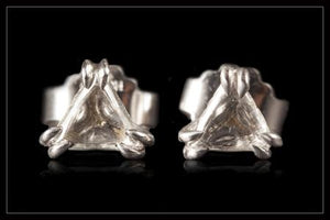 Danish White Triangle Diamond Earrings - <strong>0.71 ct.</strong>