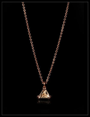 Understated Rosegold Diamond Necklace - <strong>0.78 ct.</strong>