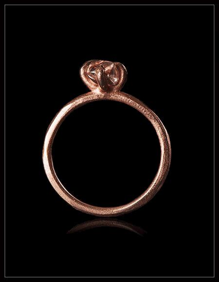 Warm Rock Ring - <strong>0.95 ct.</strong>