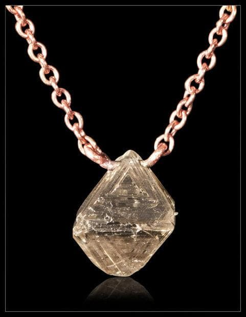 Australian Light Brown Diamond Necklace - <strong>1.24 ct.</strong>