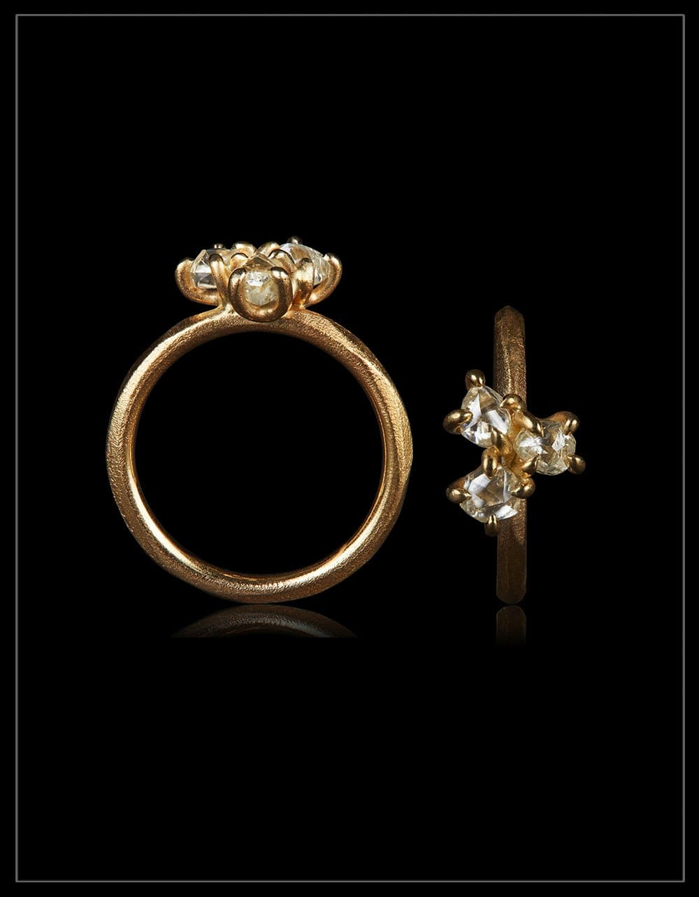 Faith, Hope and Love Cluster Gold Ring – <strong> 1.29 ct. </strong>