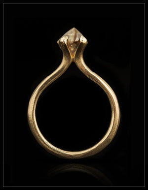 Warm Wild Gold Princess Ring - <strong>1.55 ct.</strong>