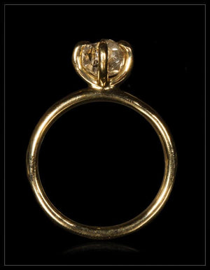 Snowy White Beauty Gold Ring - <strong>1.55 ct.</strong>