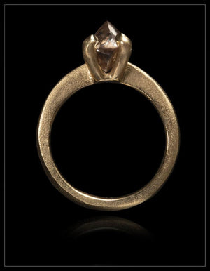 Warm Harmony Light Brown Raw Diamond Gold Ring - <strong>2.08 ct.</strong>