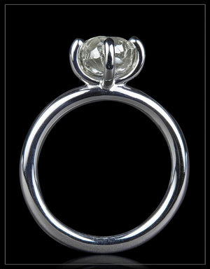 Natural Rough Beauty from Botswana in Glossy White Gold Ring  – <strong>2.12 ct.</strong>