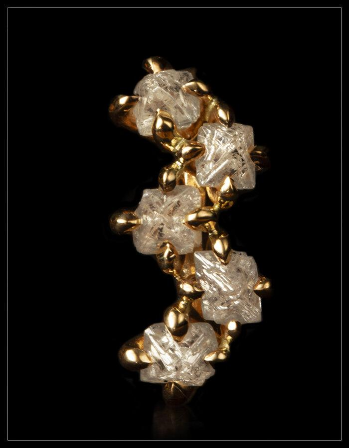 Elegant Rough Diamonds Set In Rings Rough Diamonds Uk