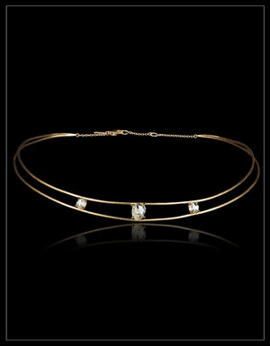 Signature Raw Diamond Gold Chocker  –<strong> 4.23 ct. </strong>