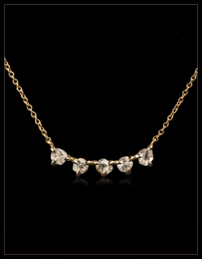 Smiley White Diamond Gold Necklace - <strong>1.17 ct.</strong>
