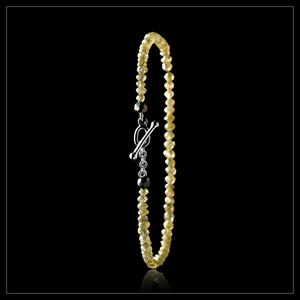 Yellow Facetted diamonds in bracelet <strong> 4.70 ct.  </strong>