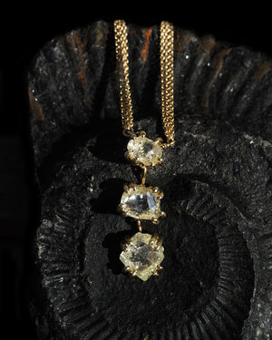 Unique Yellow Diamond Copenhagen Necklace - <strong>4.94 ct.</strong>