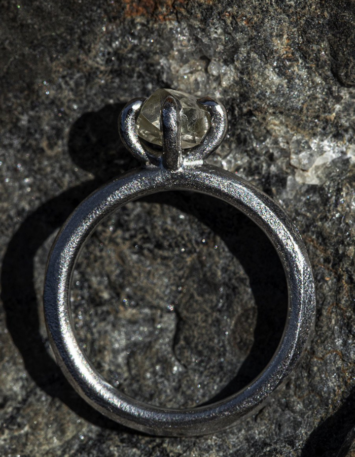 Twisted Black Rhodium Ring - <strong>1.29 ct.</strong>