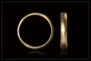 Organic Gold Wedding Band