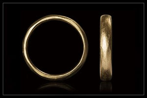 Handcrafted Broad Gold Wedding Band
