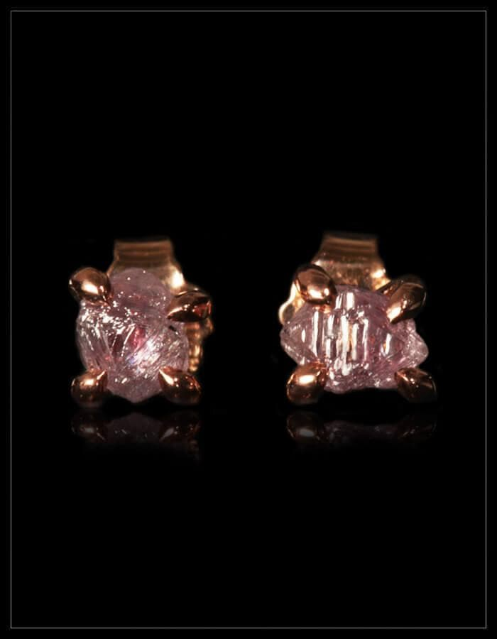 Rare Fancy Pink Diamond Rose Gold Earrings - <strong>1.44 ct.</strong>
