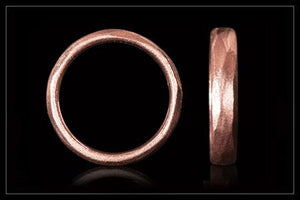 Warm Rose Gold Ring Wedding Band