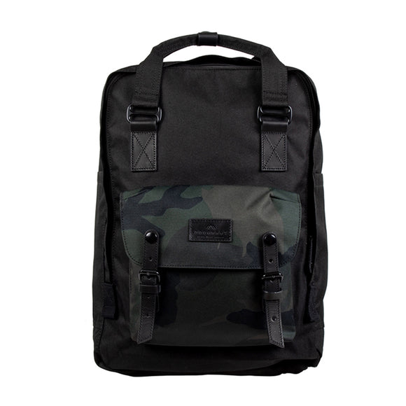 MACAROON LARGE CAMO SERIES : BLACK x ARMY