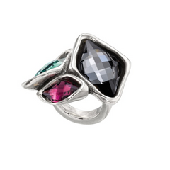 Multicolored Swarovski Crystal Accented Ring