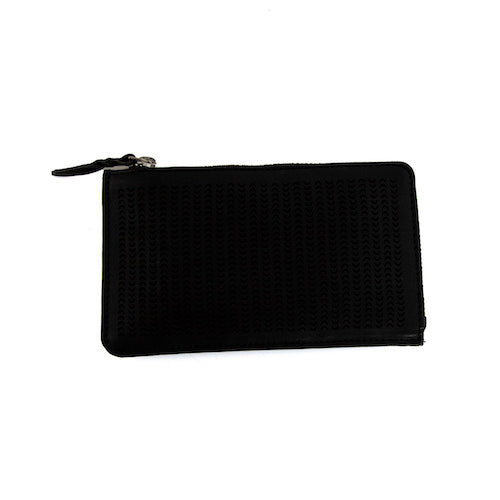 Fortune Perforation Wallet - Black