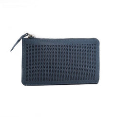 Fortune Perforation Wallet - Light Blue