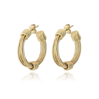 Ariane hoop earrings small size gold