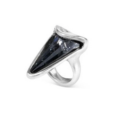 Metallic Blakie Swarovski Crystal Ring