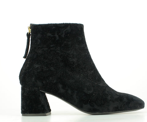 Botin brocado negro