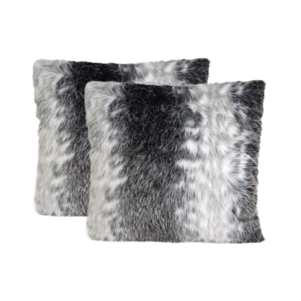 Deluxe Faux Fur Cushion (Wild Animal) Set of 2