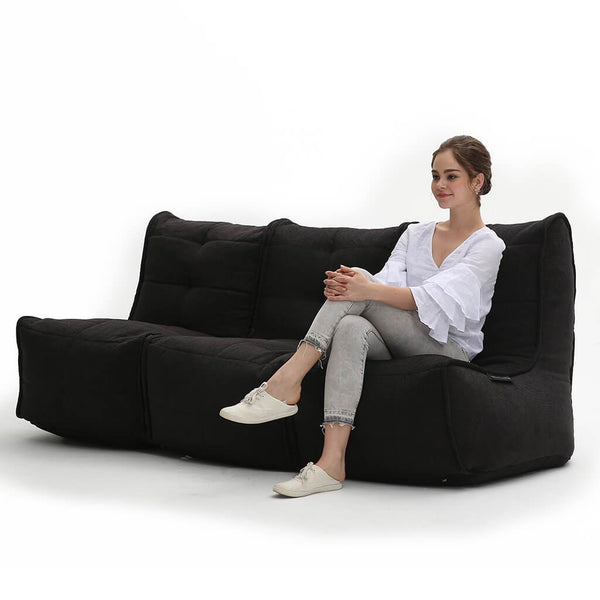 Mod 3 Movie Couch - Black Sapphire