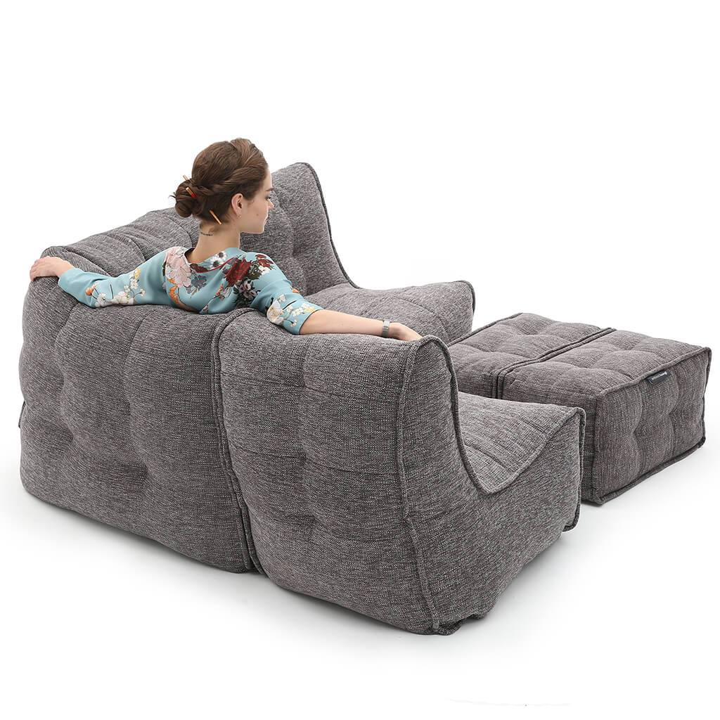 Mod 4 Corner Deluxe Luscious Grey Ambient Lounge Europe