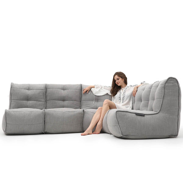 Mod 4 L Sofa - Keystone Grey (with linen)
