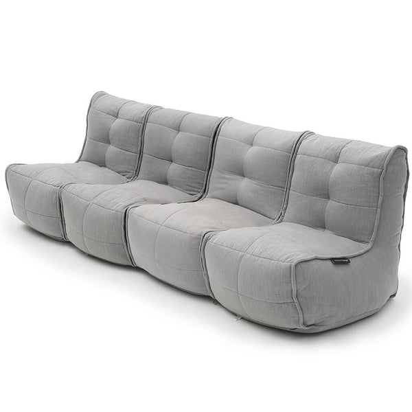 Mod 4 Quad Couch - Keystone Grey (with linen)