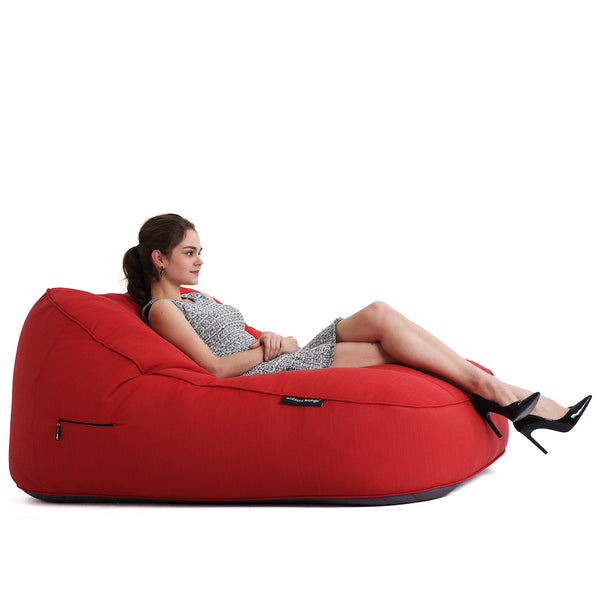 Satellite Twin Sofa - Crimson Vibe (Sunbrella)