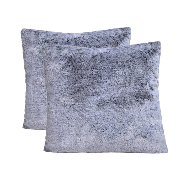 Deluxe Faux Fur Cushion (Sensory Grey) Set of 2