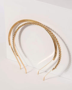Colette by Colette Hayman 2 Pack Linked Chain Metal Headband