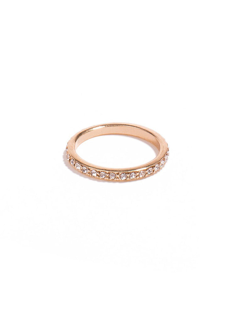 Diamante Stone Pave Band Ring