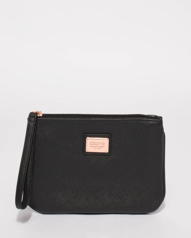 Black Lucy Purse With Rose Gold Hardware