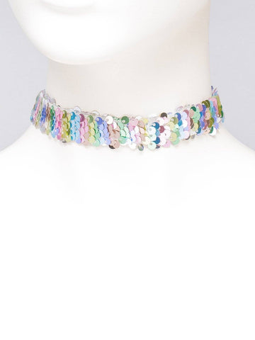 Sequin Mermaid Choker Necklace