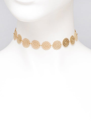 Filigree Pattern Choker Necklace