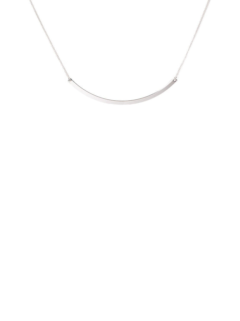 Curved Bar Short Necklace