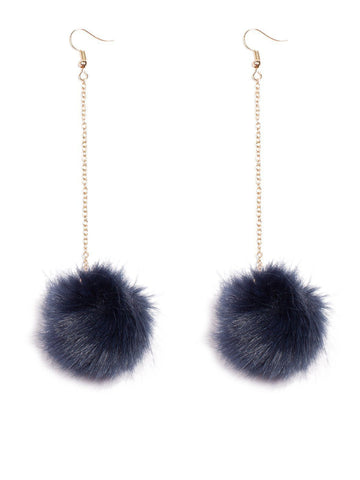 Pom Pom Chain Mini Earrings
