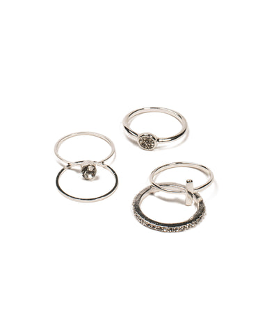 Fine Diamante Ring Pack - Large