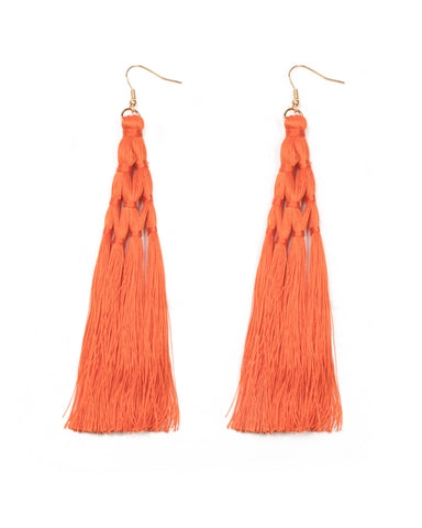 Tassel Wrap Statement Earrings