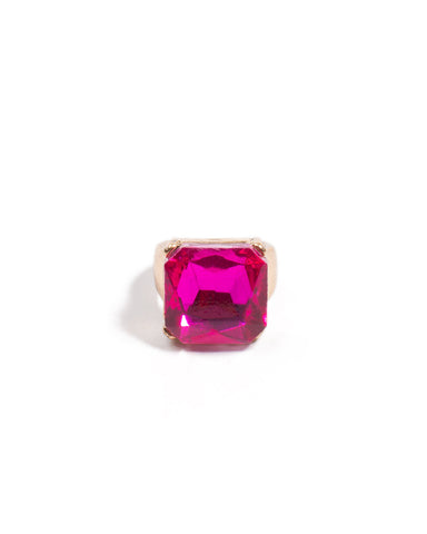 Rectangle Stone Cocktail Ring - Medium