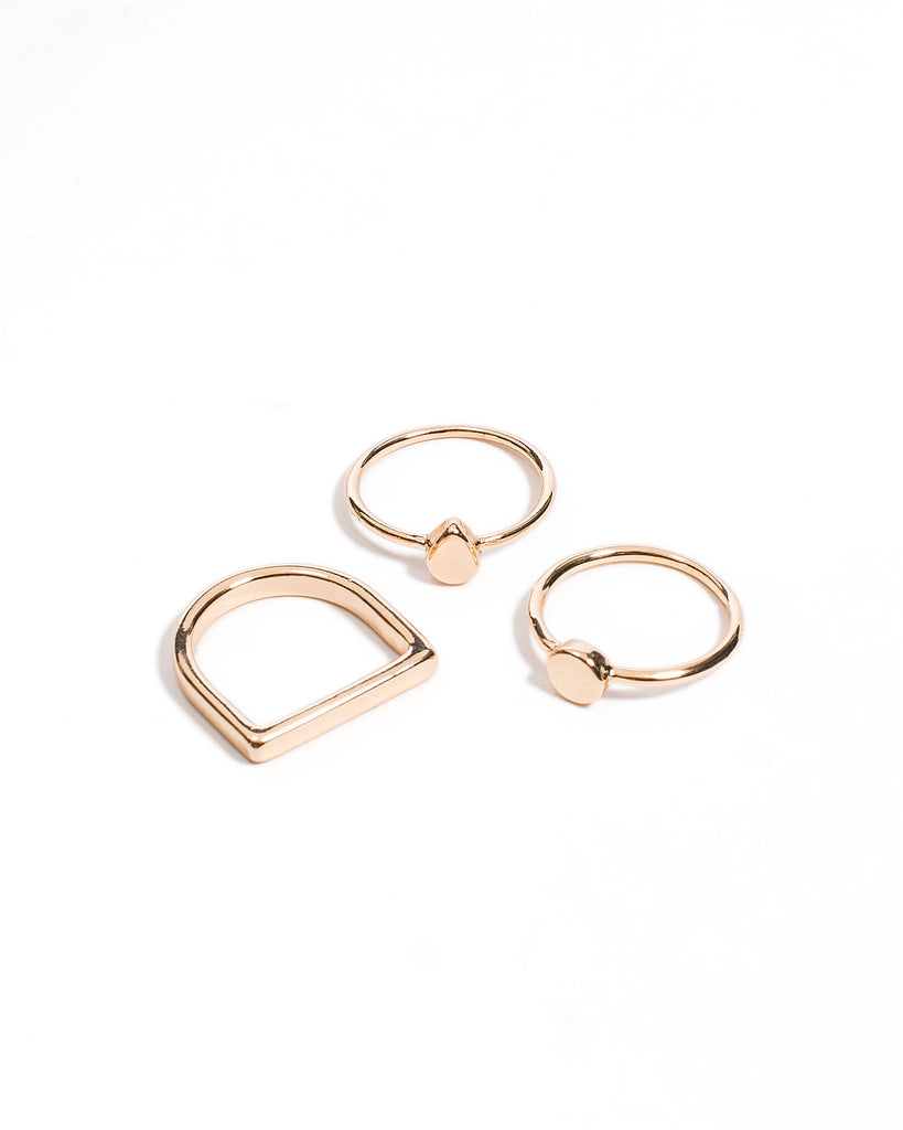 Geometric Fine Multi Ring - Medium