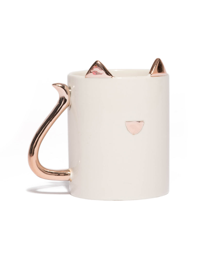 Rose Gold Cat Mug