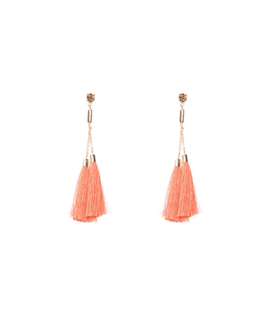 Double Tassel Statement Earrings