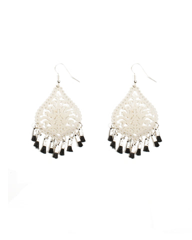 Filigree Mini Tassel Earrings