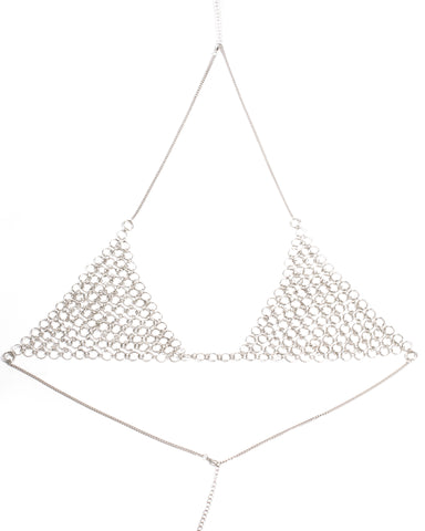 Mesh Ring Bra Chain