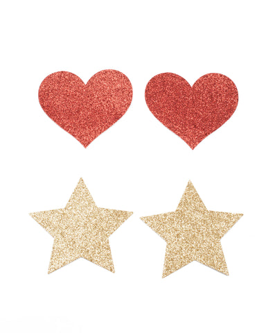 Sticker Pasties Heart Star Pack