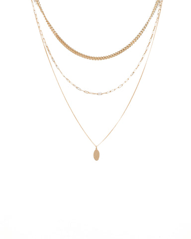 Gold Chain Layer Necklace